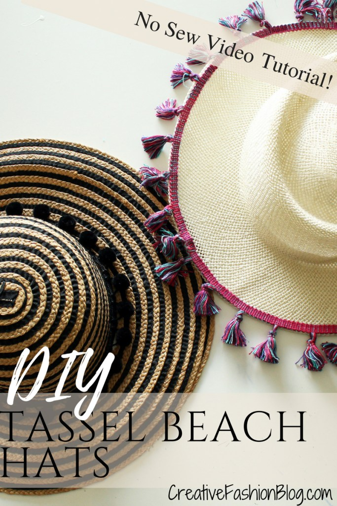 How to make a fun DIY summer hat for women . Easy no-sew project!!!
