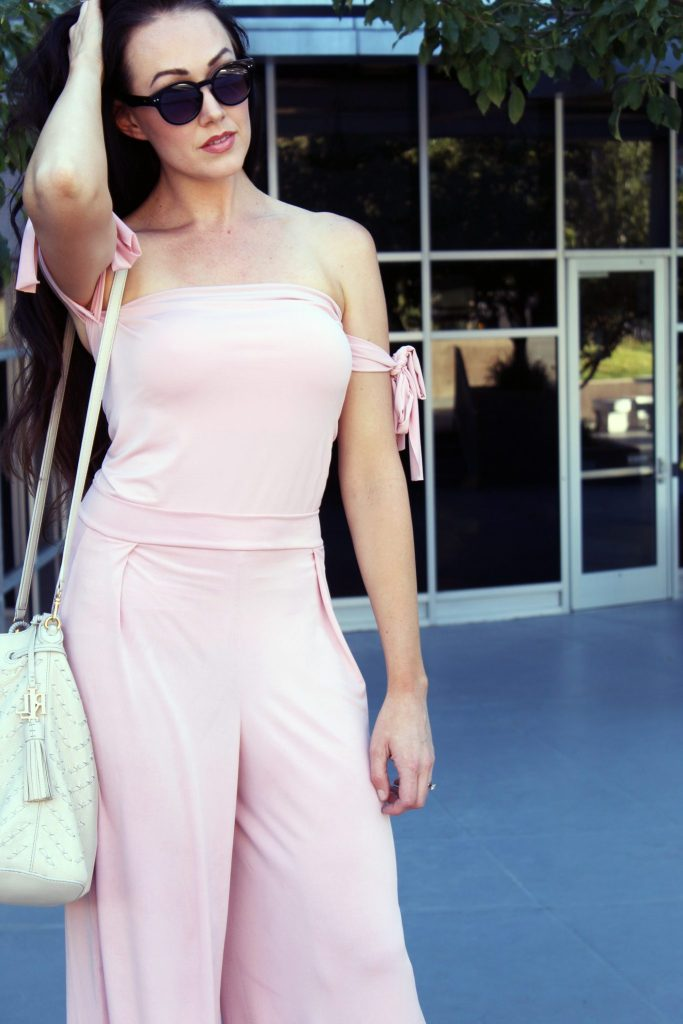 How to make a jumpsuit with this tube shirt and palazzo pant simple video tutorial