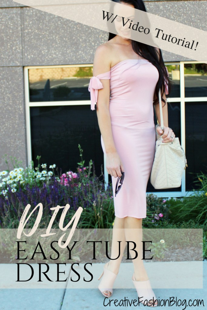 Summer outfit idea. How to make a simple summer DIY Tube Dress or Top tutorial with video instructions