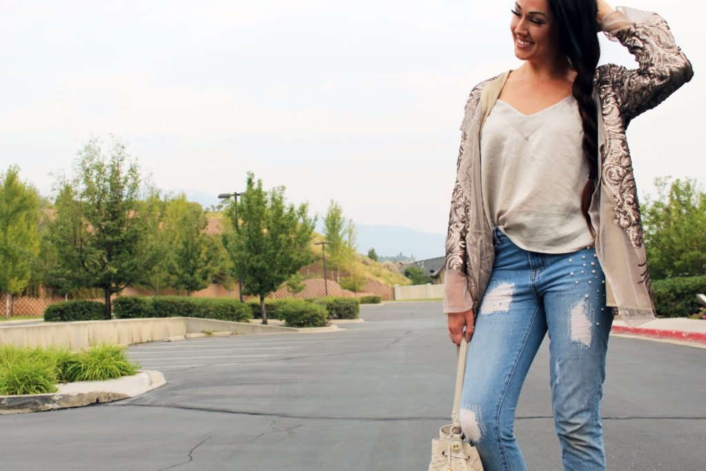 How to make a DIY Sequin Jacket Cardigan