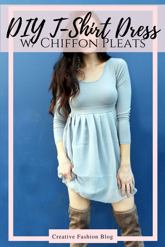 How to make a DIY chiffon babydoll t-shirt dress refashion..
