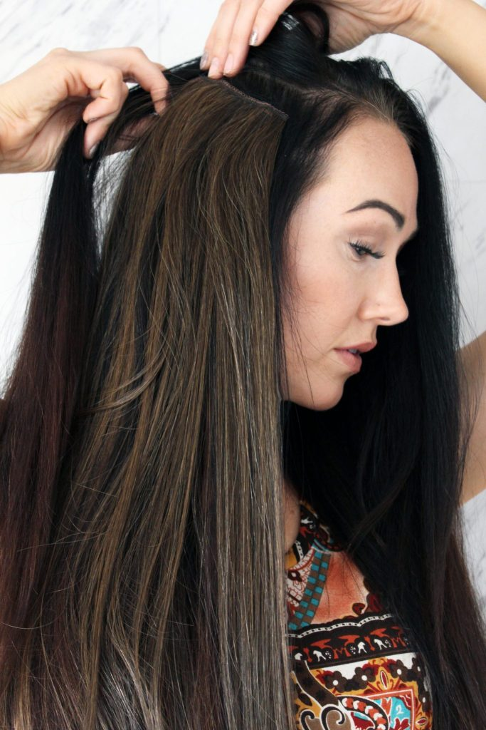 How to put on clip in extensions if you're a total beginner