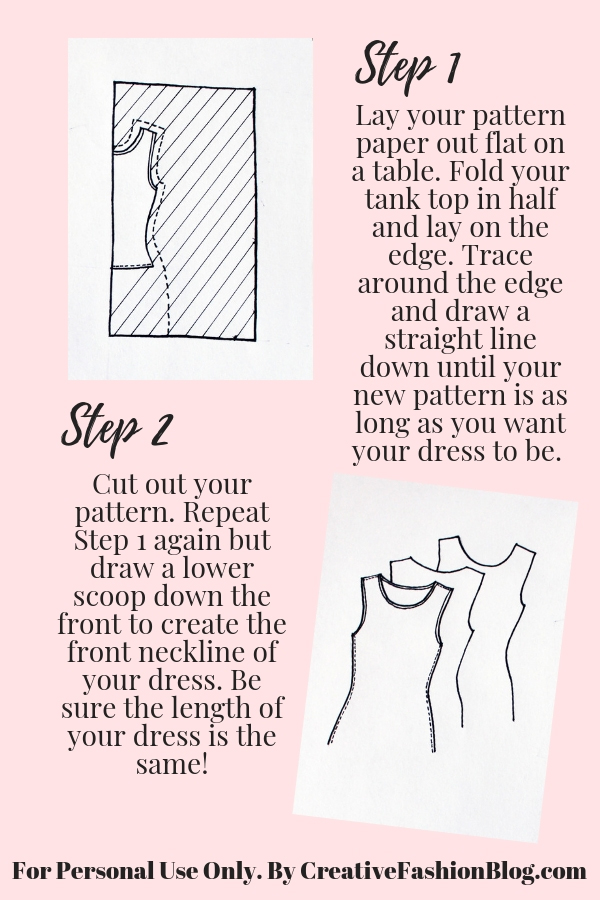 Basic summer dress printable instructions page 2