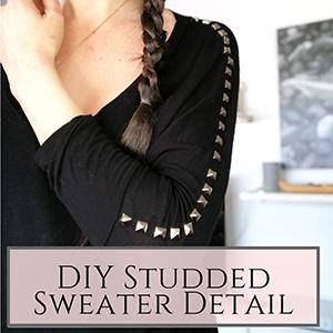 DIY studded sweater
