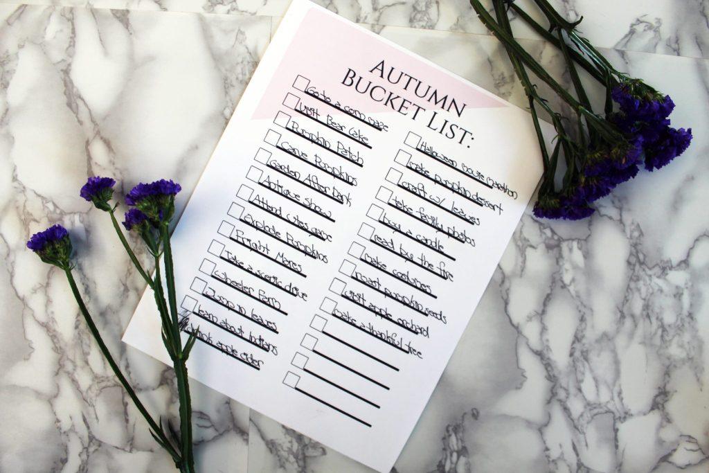 FREE Printable Autumn Bucket List