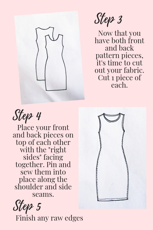 How to make DIY matching mommy and me t shirt dresses pdf page 3