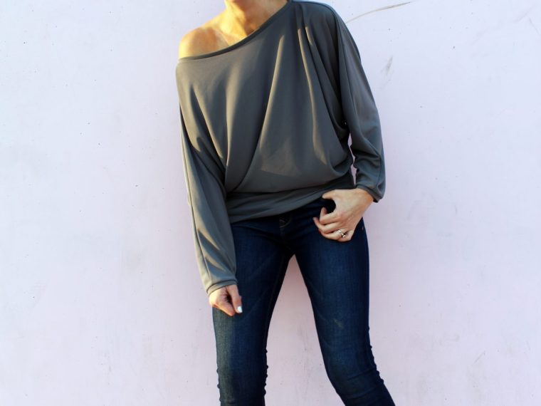 How to make an easy DIY batwing sleeve shirt