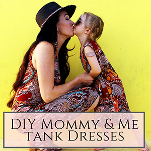 Mommy and me tank dresses