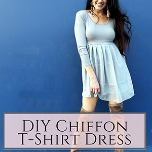 chiffon t-shirt dress