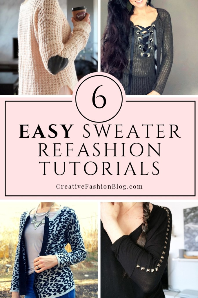 6 easy sweater refashion tutorials with full instruction