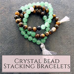 Crystal stacking bracelets