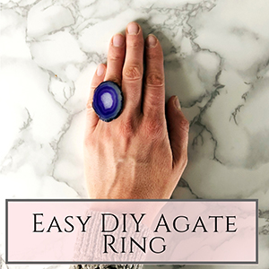 DIY agate ring
