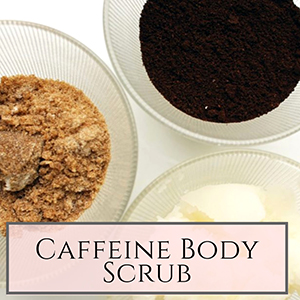 DIY caffeine body scrub