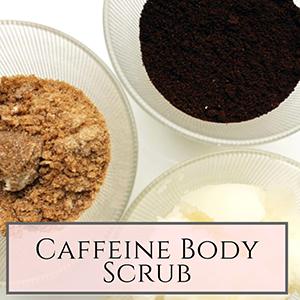 DIY caffeine body scrub