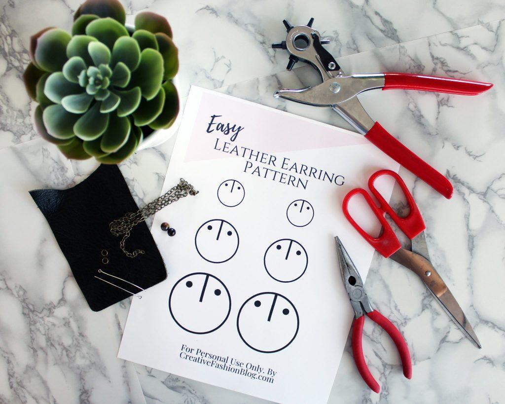 How To Make Joanna Gaines Inspired DIY boho Leather Earrings DIY 3 stylish ways