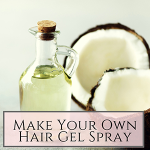 Make your own hair gel spray