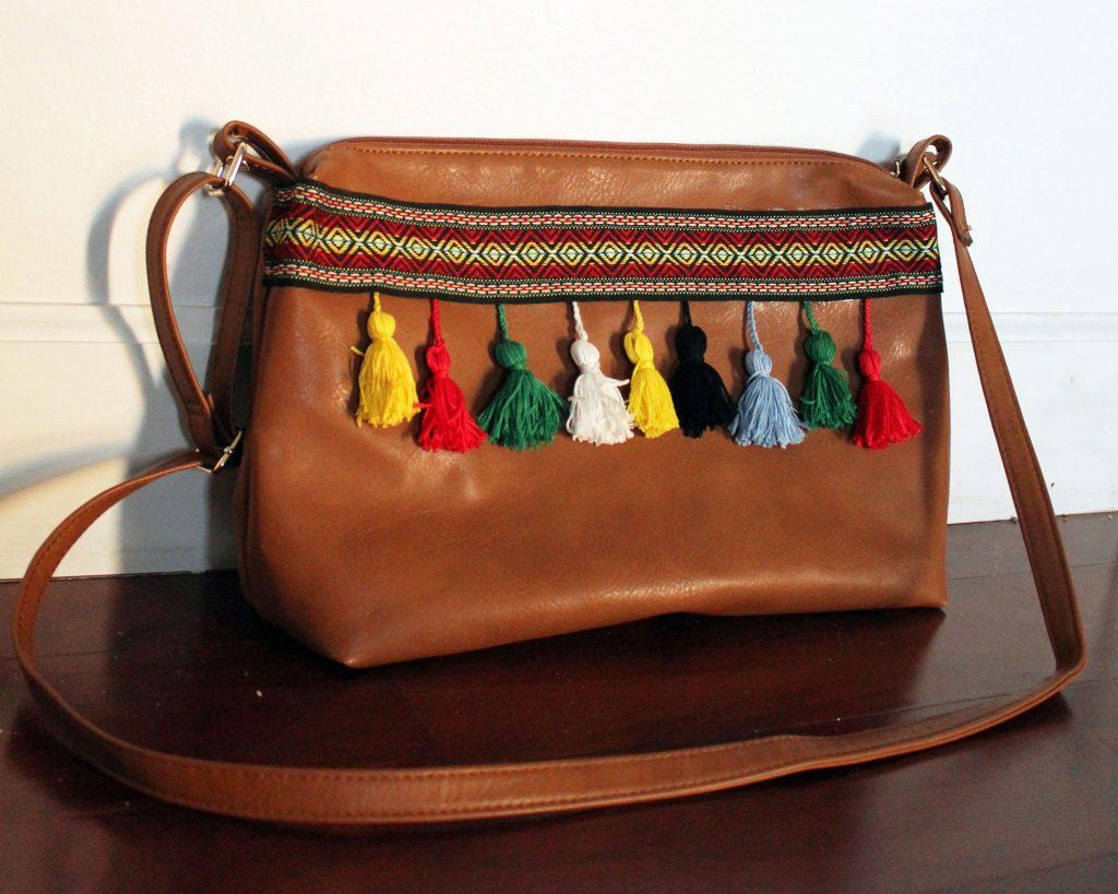 DIY boho bag Leather Purse