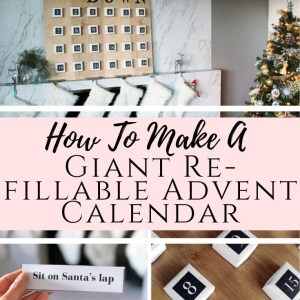 DIY tutorial how to make a giant wooden advent calendar