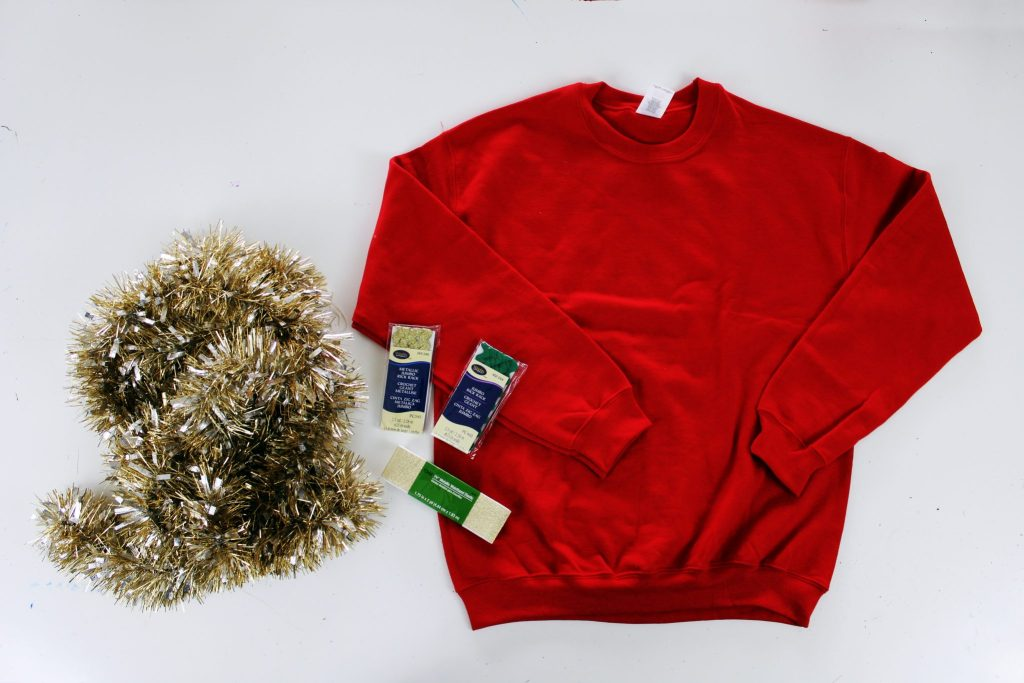 How to make an easy diy ugly Christmas Sweater from Christmas decorations ...
