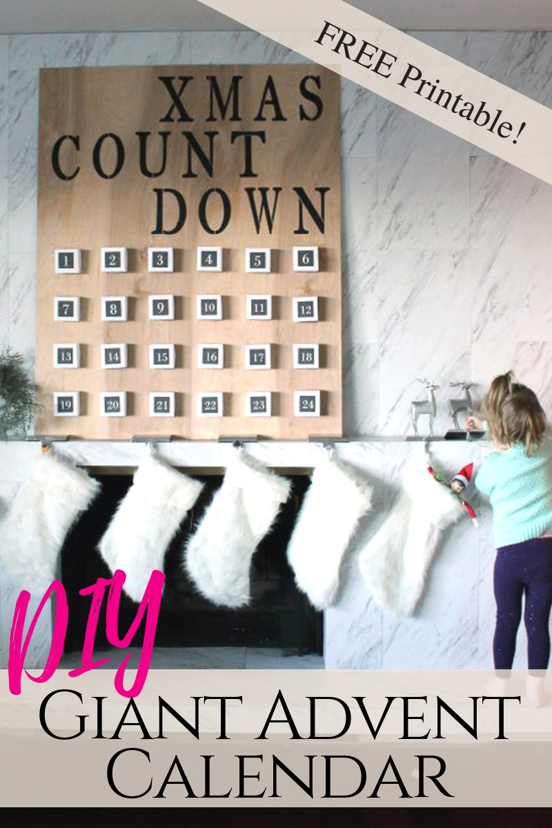 how to make a giant DIY advent calendar for Christmas this year