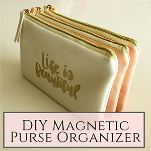 magnetic purse organizer