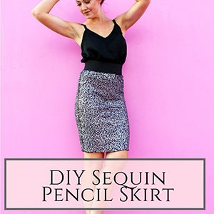 sequin pcil skirt