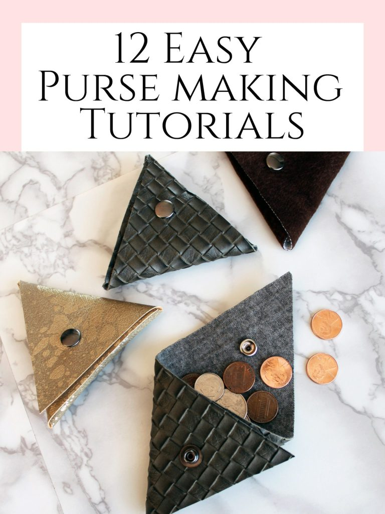 12 easy DIY purse making tutorials