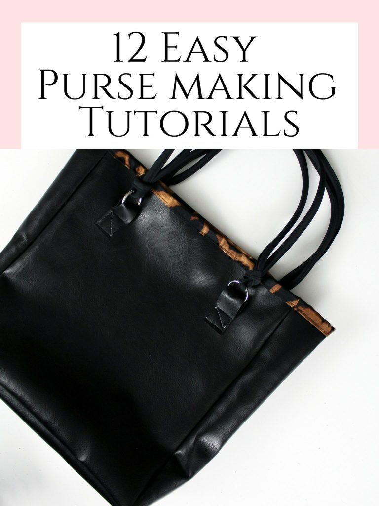 12 easy purse making tutorials