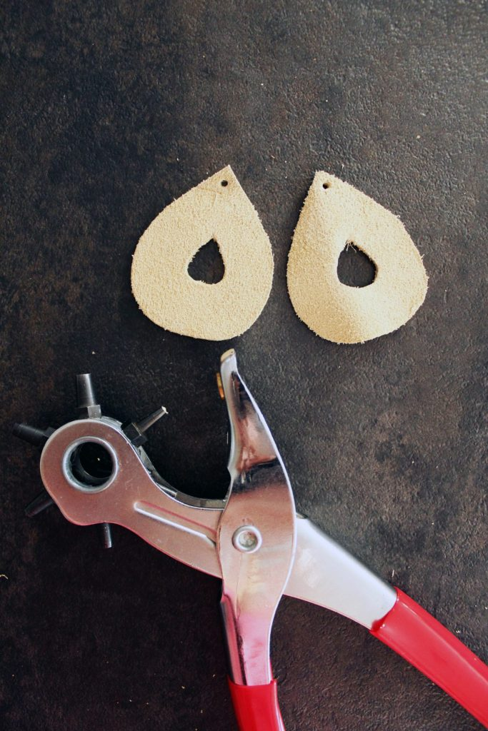 DIY leather boho earrings jewelry making tutorial from scratch