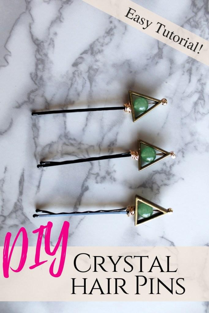 How to Make Crystal DIY Hair Pins. Boho chic hair accessory tutorial
