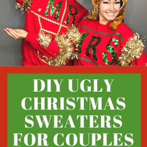 How to diy an ugly Christmas Sweater for couples
