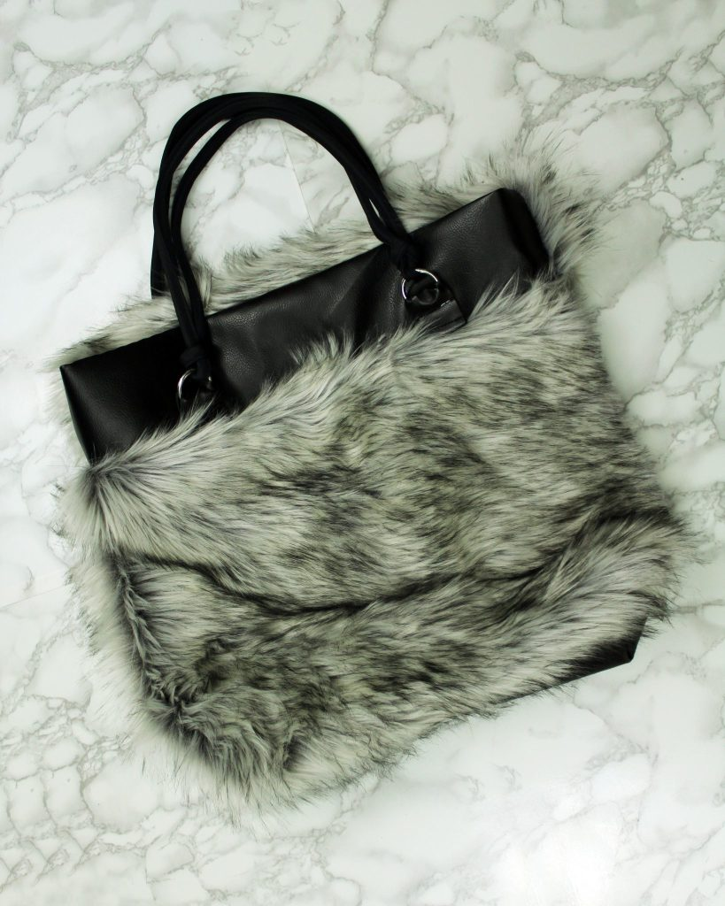 How to make a DIY reversible tote with fur and leather .