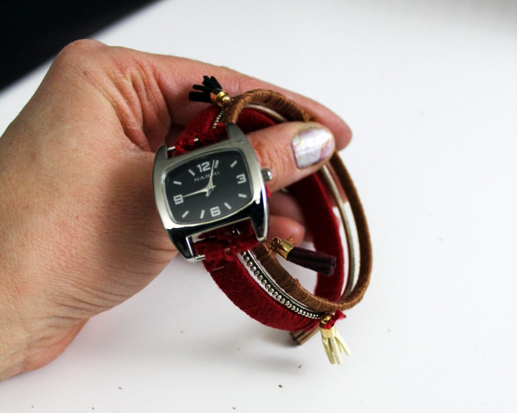 How to make a boho stacking bracelet watch . jewelry making tutorial