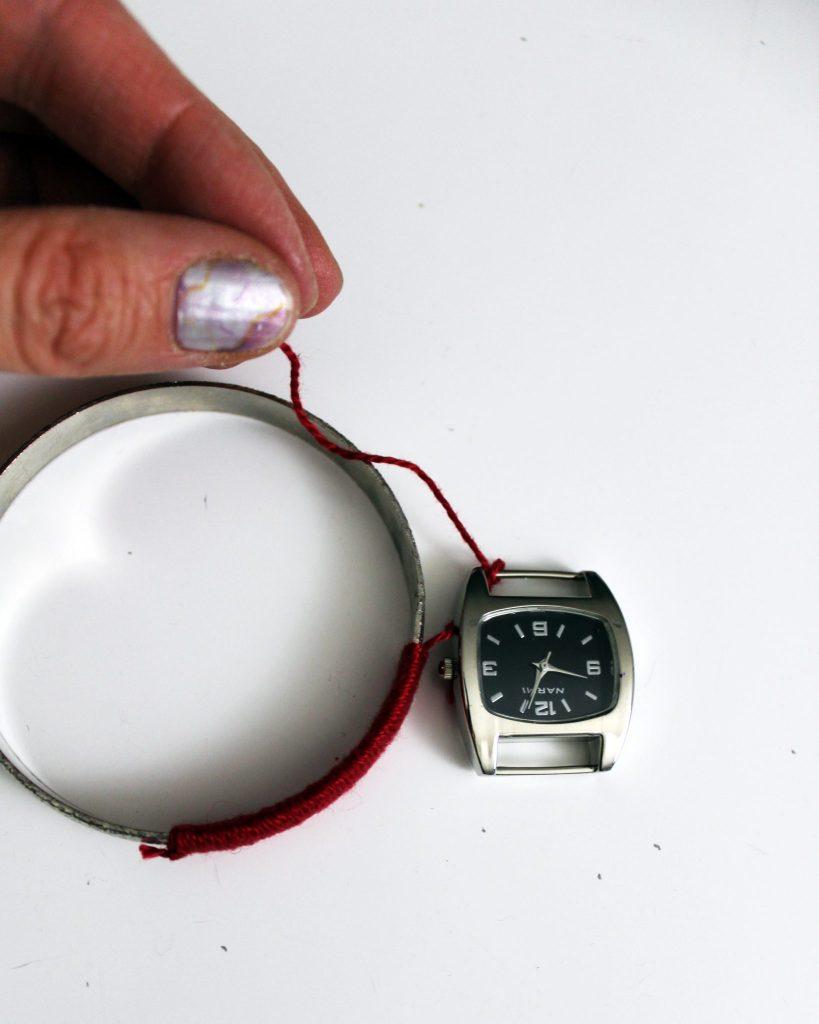 How to make a boho stacking bracelet watch.