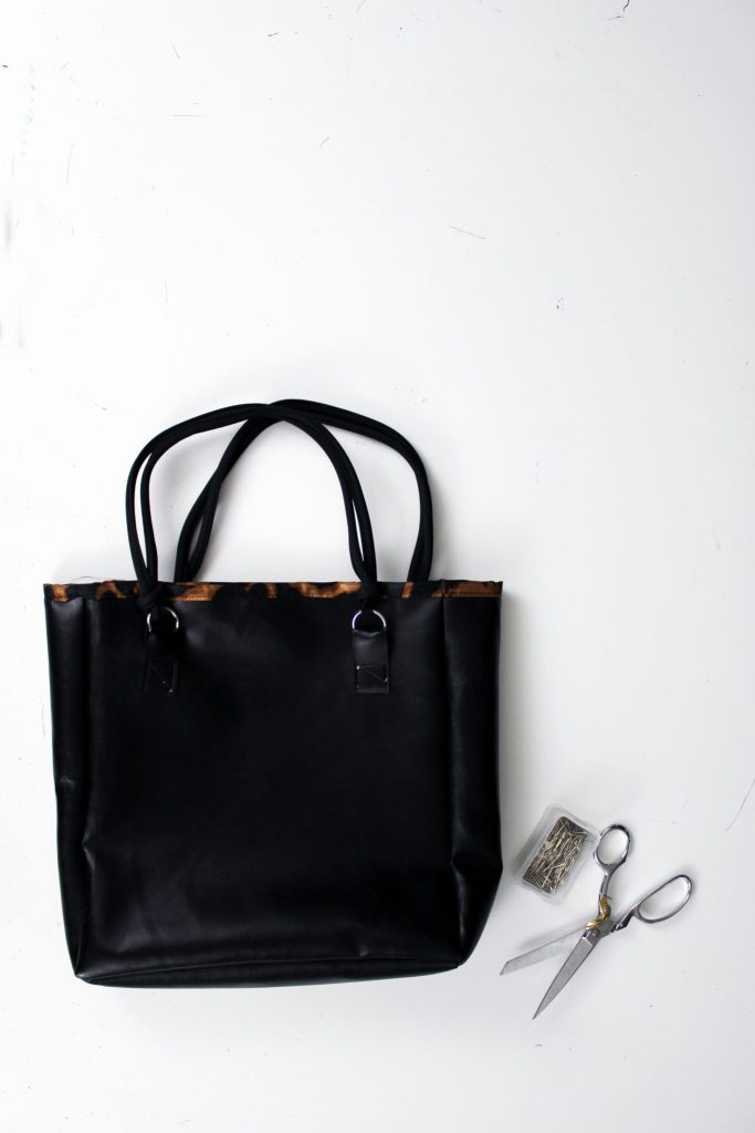 How to make a diy leather tote bag