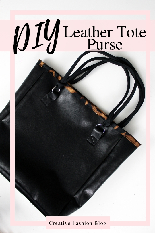 How to make a fully lined diy leather tote bag from scratch