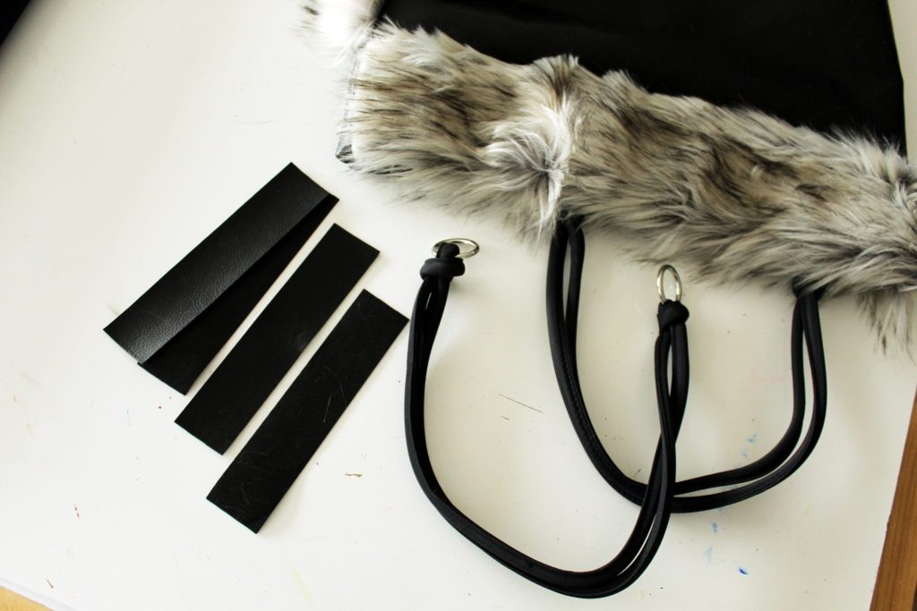 How to make a reversible tote with fur and leather
