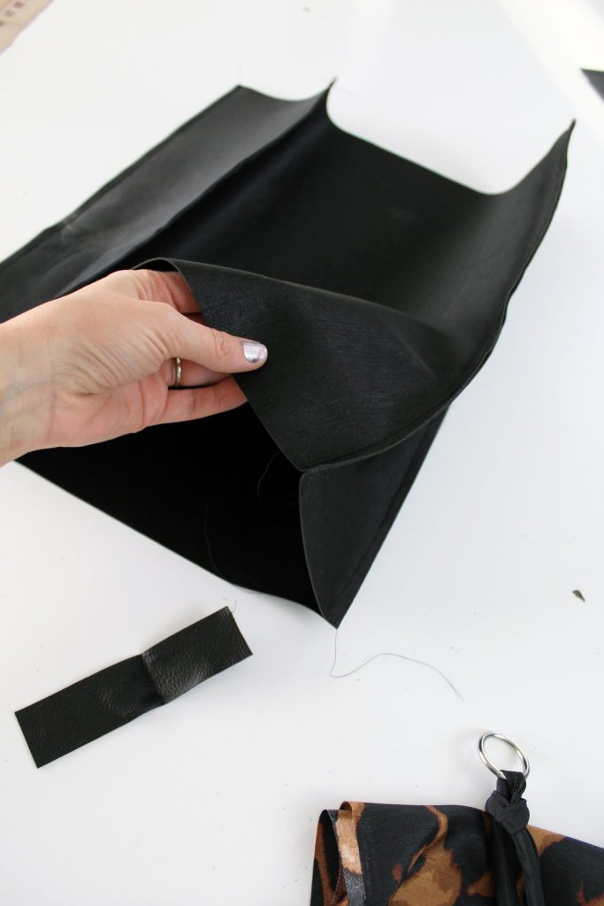 How to make a simple diy leather tote from scratch