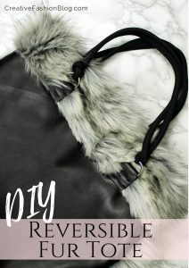 How to make a tote with fur and leather easy beginner sewing tutorial..