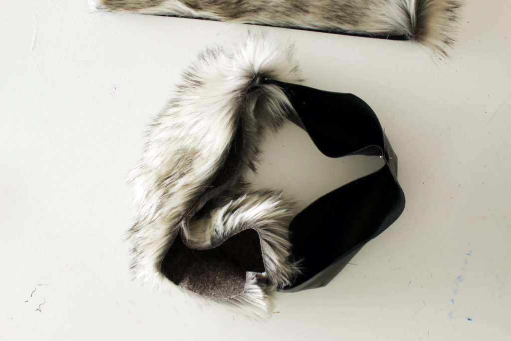 How to make a tote with fur and leather easy sewing tutorial