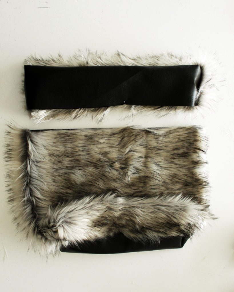 How to make a tote with fur and leather sewing tutorial
