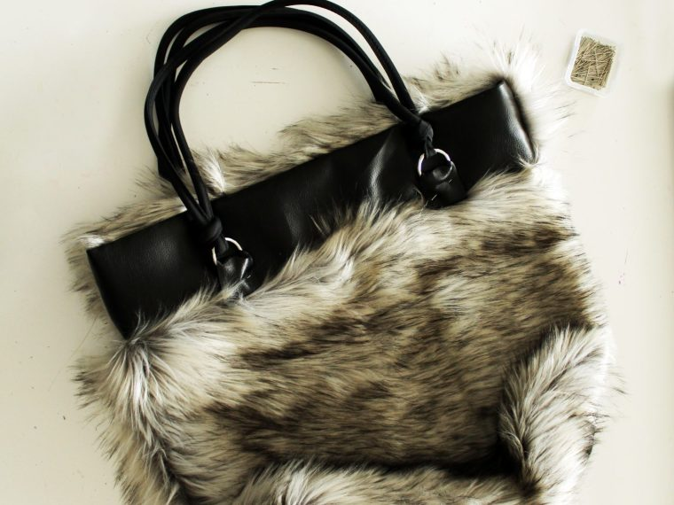 How to make a tote with fur and leather