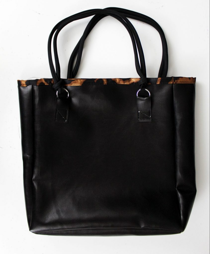 How to make an easy diy leather tote bag