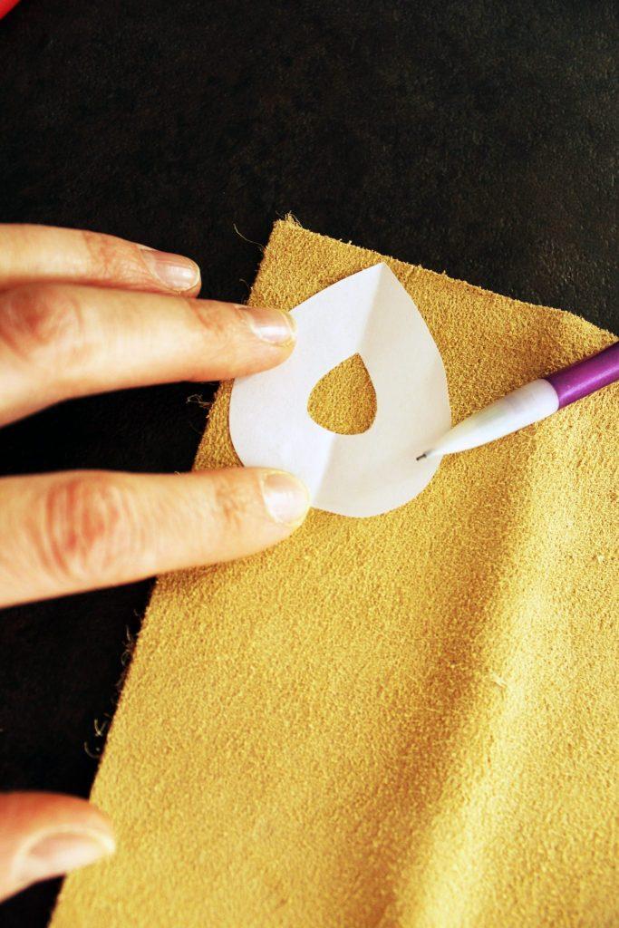 Simple DIY leather boho earrings jewelry making tutorial
