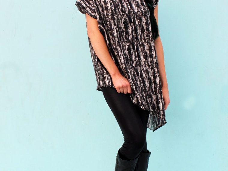 How to make a silk asymmetrical top DIY new pattern shirt beginner sewing tutorial