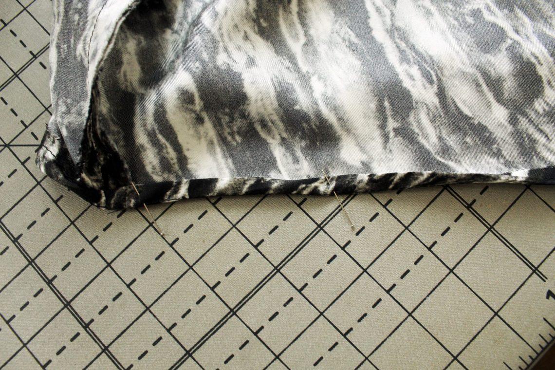 How to make a silk asymmetrical top