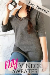 How to make your own vneck DIY sweater easy beginner sewing tutorial