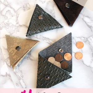 Make A Small Triangle Coin pocket