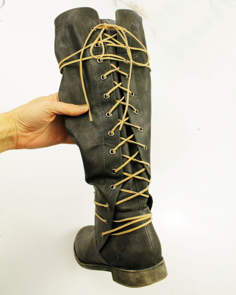 Refashion Your Leather Boots In Just Ten Minutes with Simple Suede Lace