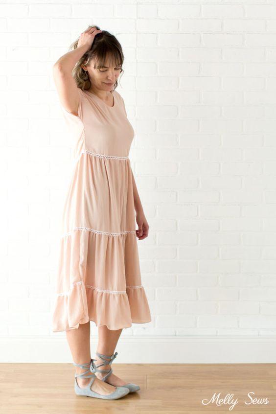 Easy DIY Boho Chic Dress sewing tutorial DIY
